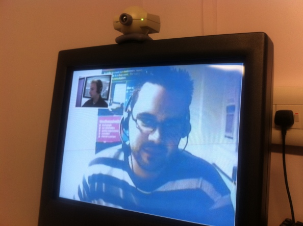 Carmondean's telly talk system allows people to speak to a council advisor by web-cam